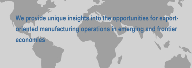 We provide unique insights into the opportunities for export-oriented manufacturing operations in emerging and frontier economies