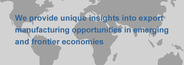 We provide unique insights into export manufacturing opportunities in emerging and frontier economies